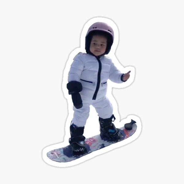 stormi snowboarding... thumbs up! Sticker
