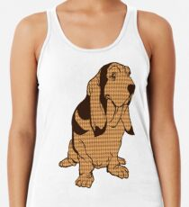 Henry the Houndstooth Hound Racerback Tank Top