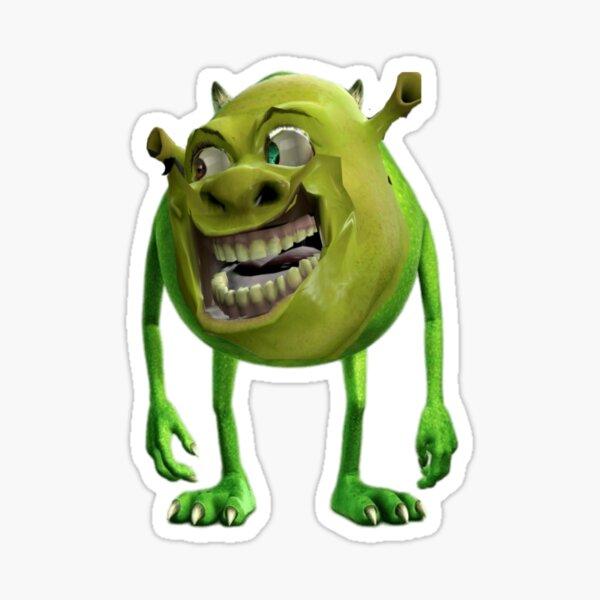 Cursed Shrek Sticker By Yeetrusc Redbubble