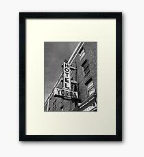 Hotel, Yorba Framed Print