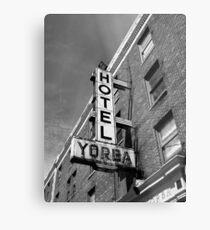 Hotel, Yorba Metal Print