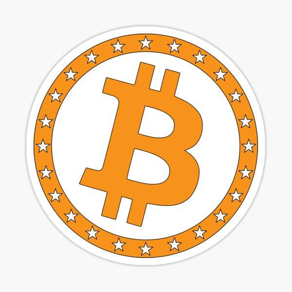 Bitcoin mit Sternenring Sticker