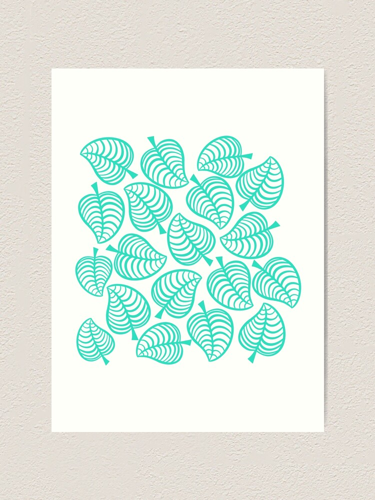 Animal Crossing New Horizons Tropical Leaves Art Print By Peachycrossing Redbubble