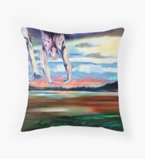 '(Flying in Low) Towards Valhalla' Throw Pillow