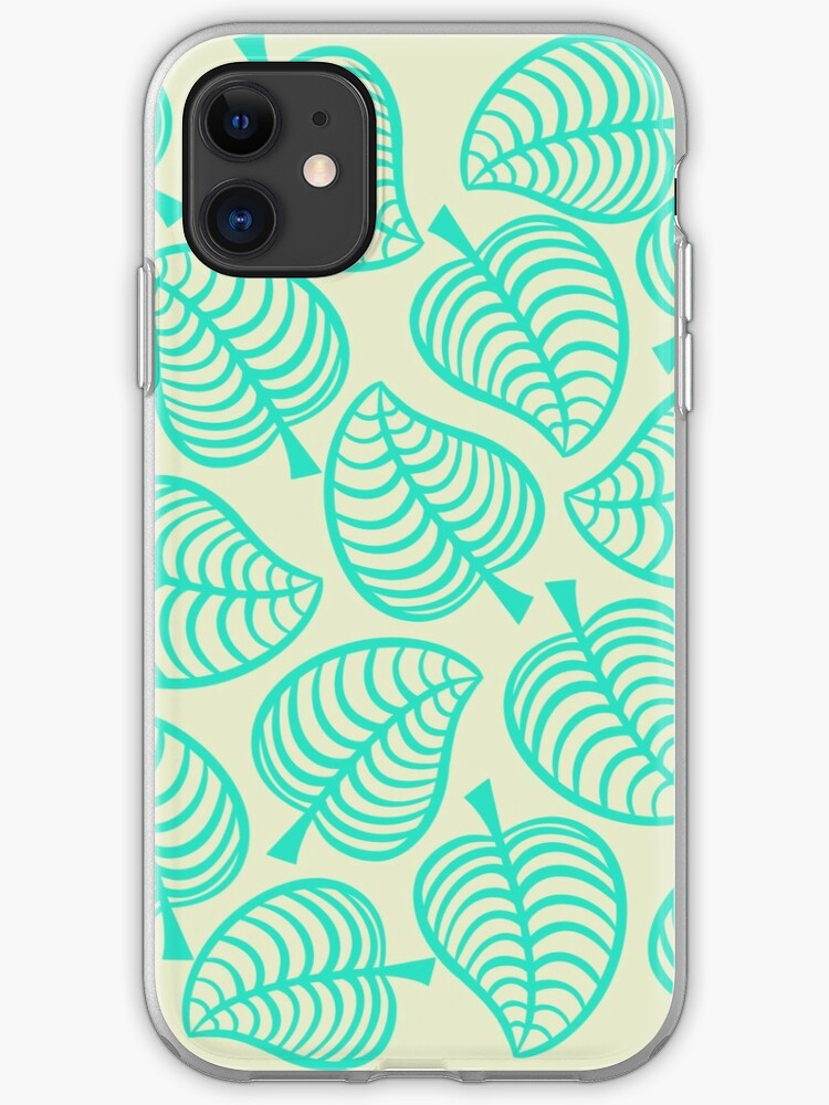 Animal Crossing New Horizons Tropical Leaves Iphone Case Cover By Peachycrossing Redbubble