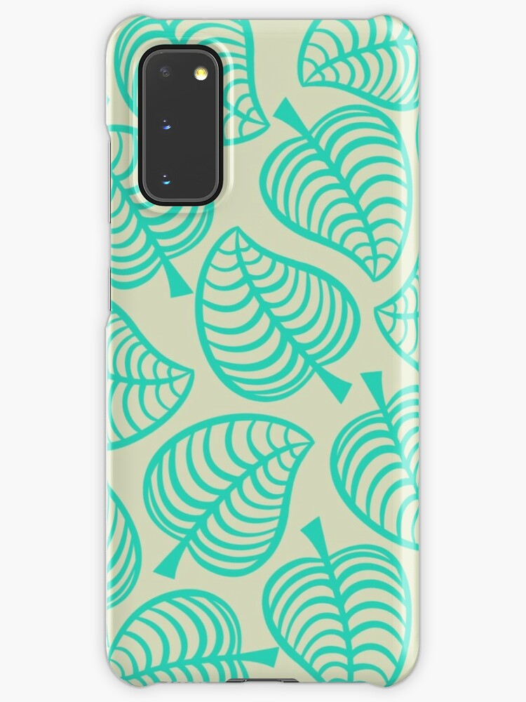 Animal Crossing New Horizons Tropical Leaves Case Skin For Samsung Galaxy By Peachycrossing Redbubble