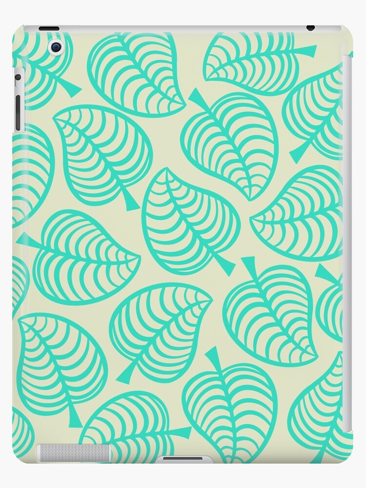 Animal Crossing New Horizons Tropical Leaves Ipad Case Skin By Peachycrossing Redbubble