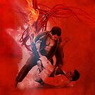 Brazilian Jiu Jitsu Fire by Willy Karl Beecher