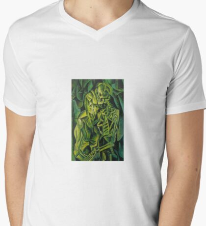 A Skeleton Embracing A Zombie Halloween Horror T-Shirt