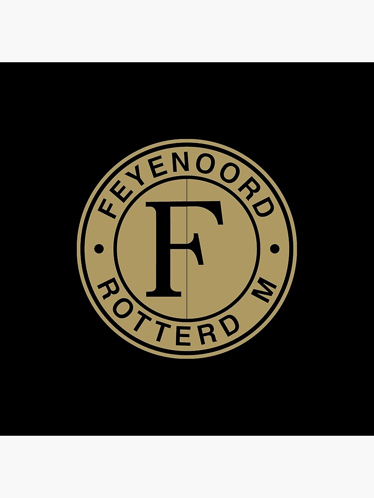 Feyenoord Rotterdam Logo Brown Art Board Print By Danibasuki Redbubble