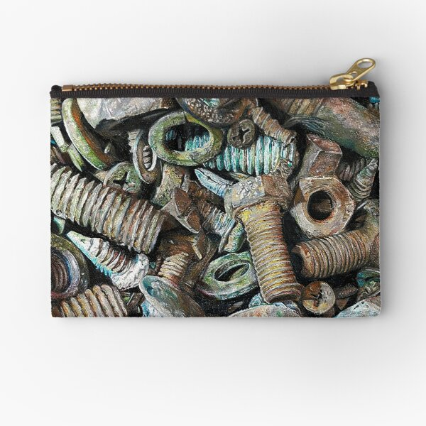 Nuts and bolts Zipper Pouch