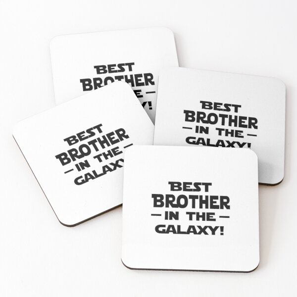 'Best Brother In The Galaxy!' (White) Coasters (Set of 4)