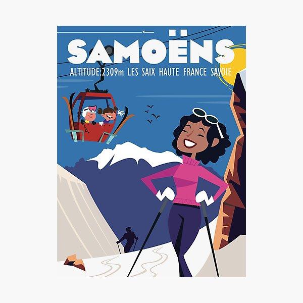 Samoens poster Photographic Print