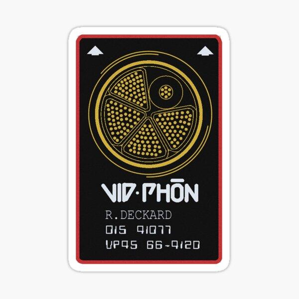 BLADE RUNNER CARD VID PHON Sticker Sticker