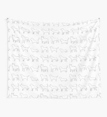 Monochrome Dogs Wall Tapestry