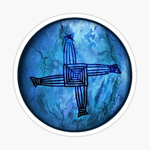 Ancient Brigids Cross Symbol Sticker