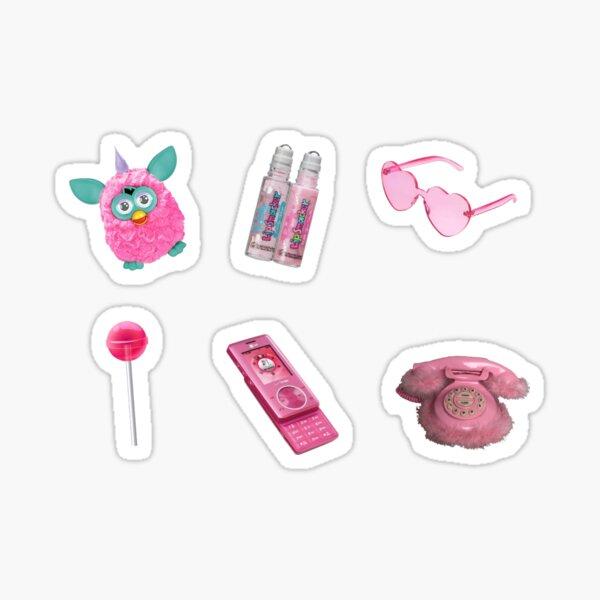 Pink y2k Set Sticker