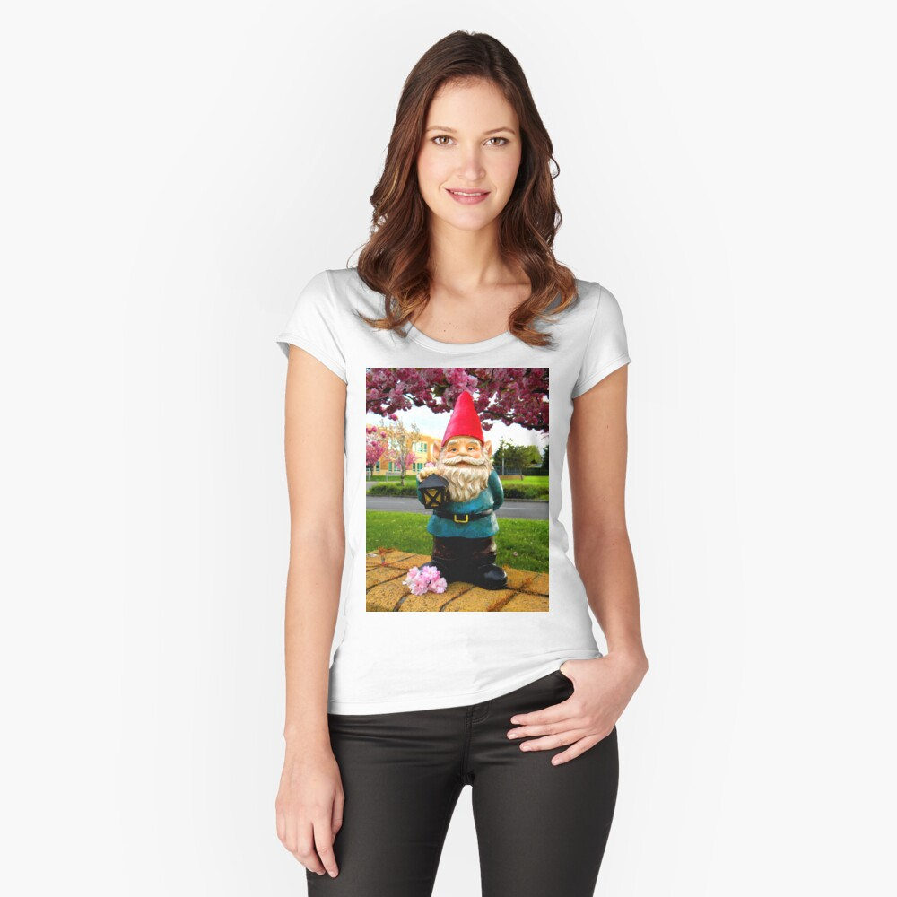 School Gnome Women's Fitted Scoop T-Shirt Front