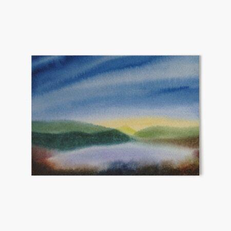 Berge und See #4 / Aquarell Galeriedruck