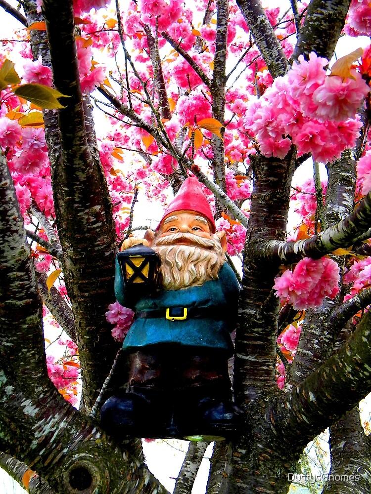 Sakura Climber Gnome by DustysGnomes