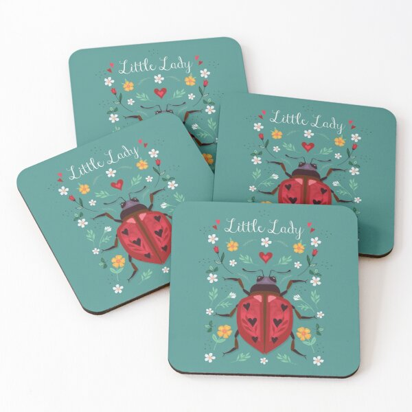Little Lady Coasters (Set of 4)
