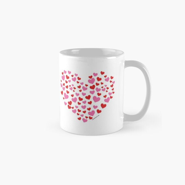 Red And Pink Hearts Classic Mug