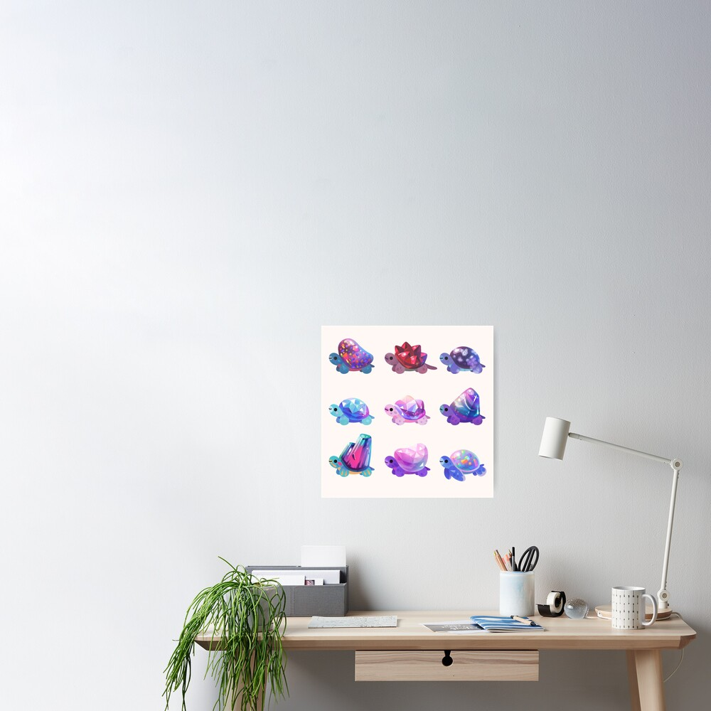 Jewel turtle - pastel Poster