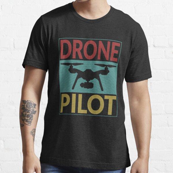 Piloto de drones retro Camiseta esencial