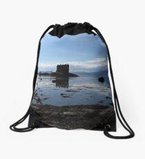 Castle Stalker and Loch Laich Drawstring Bag