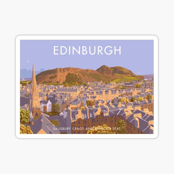 Edinburgh, salisbury crags, arthur's seat Sticker