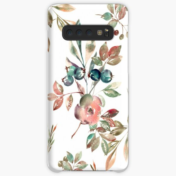 Watercolor Floral Collection AMORE Samsung Galaxy Snap Case