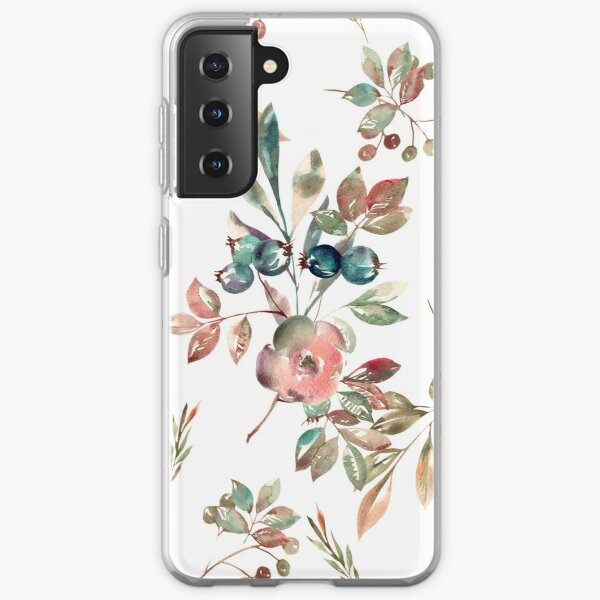 Watercolor Floral Collection AMORE Samsung Galaxy Soft Case