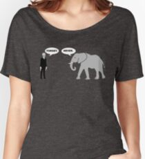 Silence vs. Elephant Women's Relaxed Fit T-Shirt