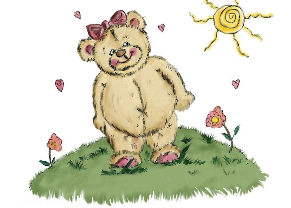 cuddly teddy by pinks