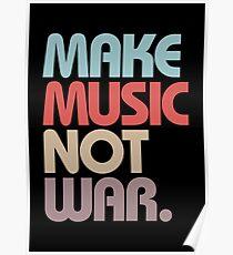 Make Music Not War (Vintage) Poster