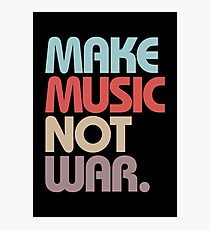 Make Music Not War (Vintage) Photographic Print