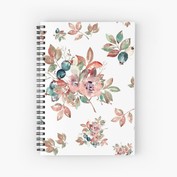 Watercolor Floral Collection AMORE Spiral Notebook