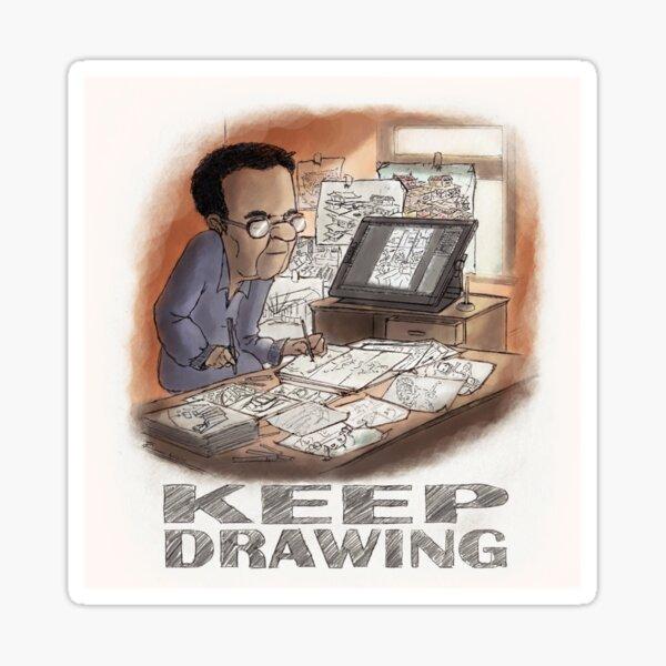 Keep Drawing Sticker