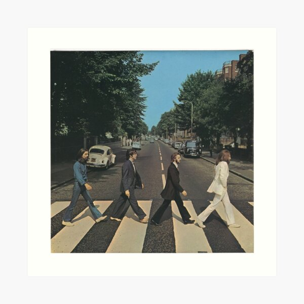 """""""Abbey Road"""" by The Beetles, cover  Art Print"""
