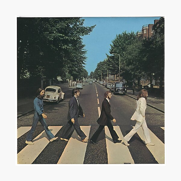 """Abbey Road"" by The Beetles, cover  Photographic Print"