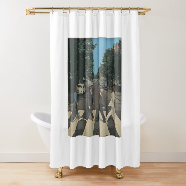 """Abbey Road"" by The Beetles, cover  Shower Curtain"