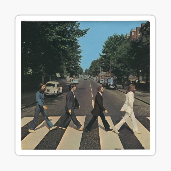 """""""Abbey Road"""" by The Beetles, cover  Sticker"""