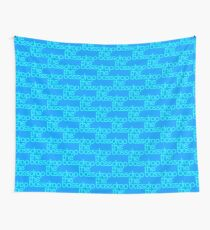 Drop The Bass (cyan) Wall Tapestry