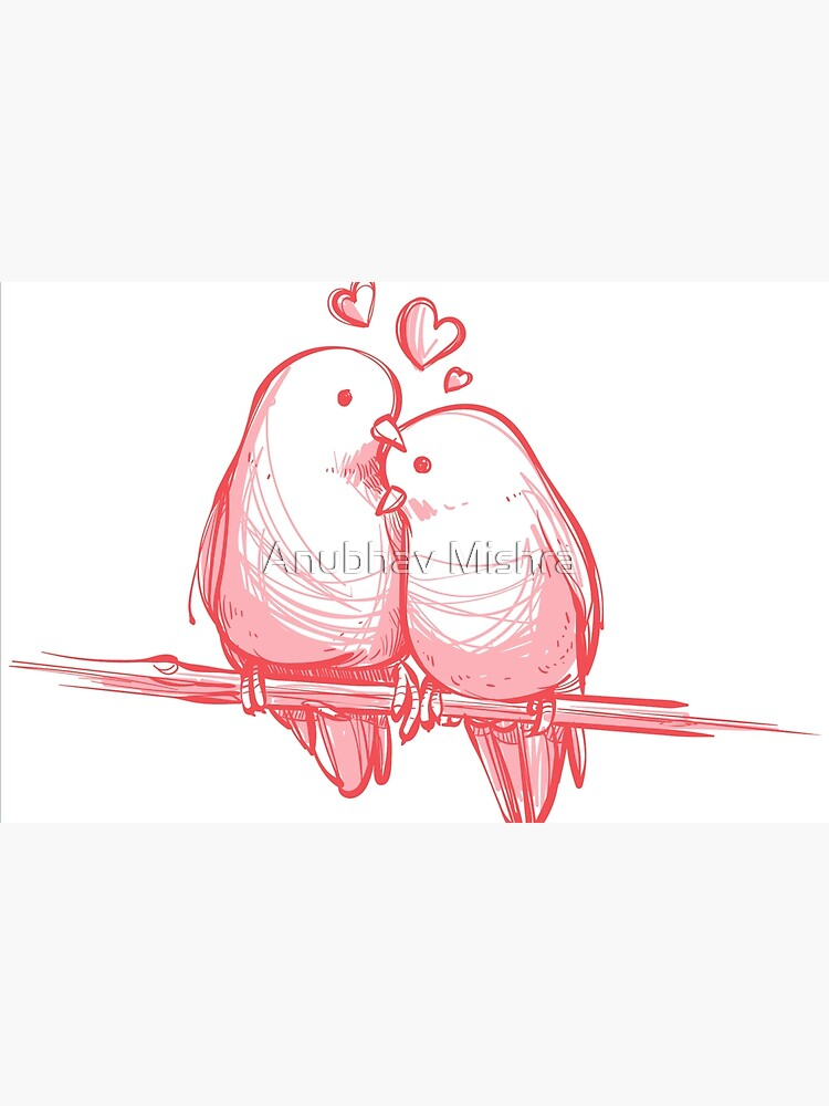 Love Bird Sketch For Redbubble Laptop Skin By Anubhavmishra21 Redbubble
