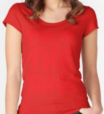 Drop The Bass (Red) Women's Fitted Scoop T-Shirt