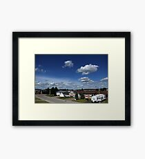 Clouds Over Suburbia Framed Print