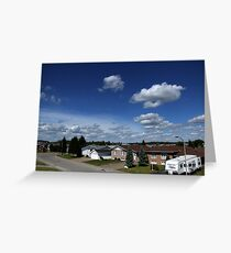 Clouds Over Suburbia Greeting Card