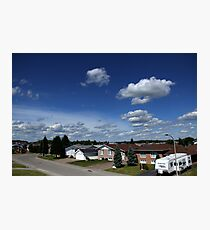 Clouds Over Suburbia Photographic Print