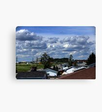 Clouds Over Suburbia II Canvas Print