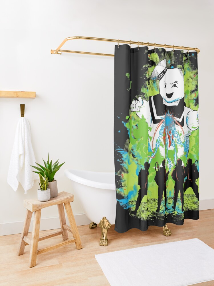 Alternate view of Busters Shower Curtain